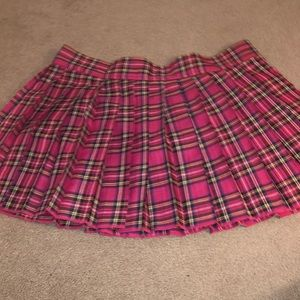 Hustler Pink Stewart Plaid School Girl Skirt
